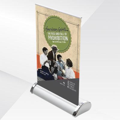 Mini Tabletop Retractable Banner