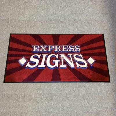 Custom Digiprint HD Logo Floor Mat Example - Express Signs