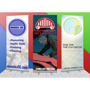 Retractable Banners with Economy Stands
