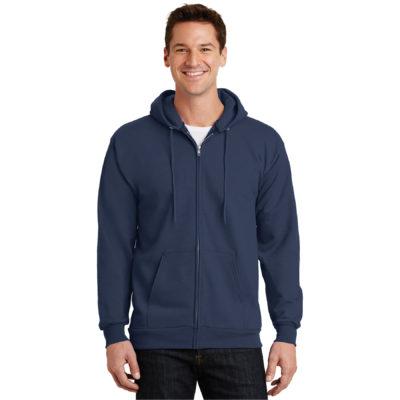 Port & Company Essential Fleece Full Zip Hooded Sweatshirt