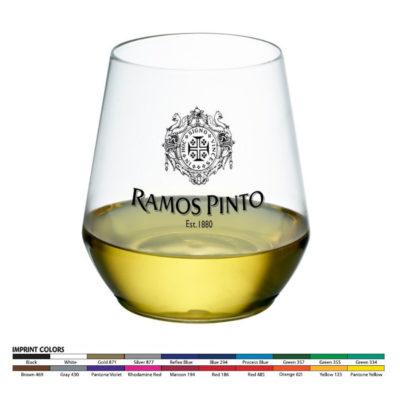12oz Stemless Plastic Wine Glass