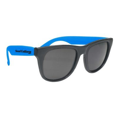Sunglasses with Black Frame and Logo