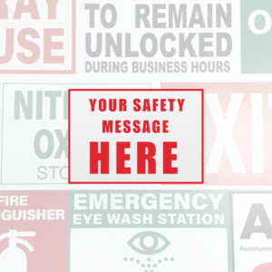 General Signs and Safety Signs