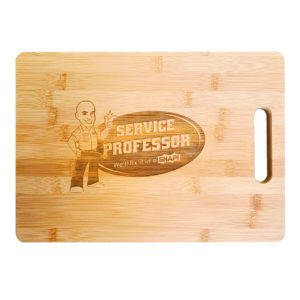 Bamboo Cutting Board with Custom Service Professor Engraving