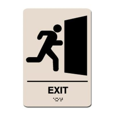Exit Ada Sign - Black on Taupe