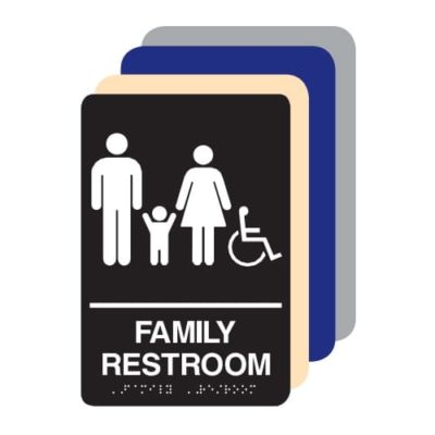 Family Accessible ADA Restroom Sign