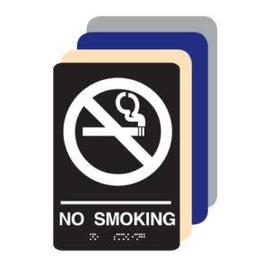 No Smoking ADA Sign
