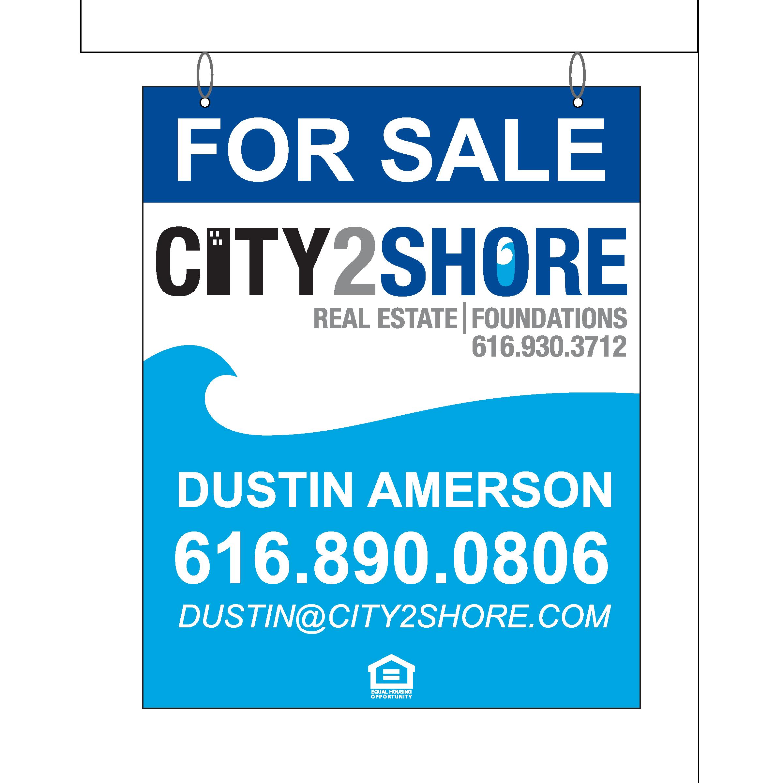 Hanging 30 x 24 Real Estate Sign
