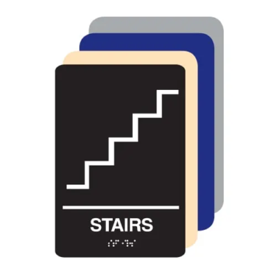 Stairs ADA Sign Different Colors