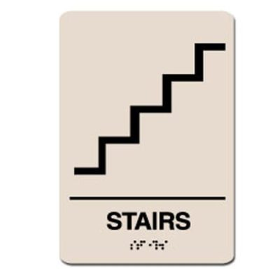 Stairs ADA Sign - Black on Taupe