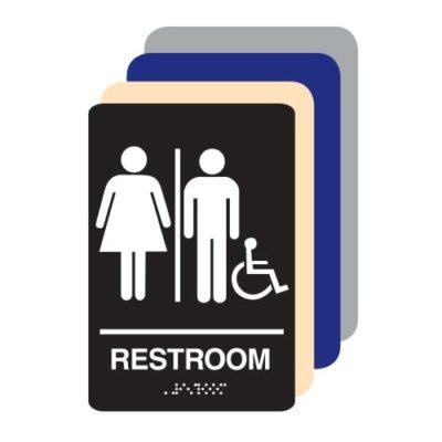 Unisex Gender Neutral Accessible ADA Restroom Sign