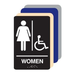 Women Accessible ADA Restroom Sign