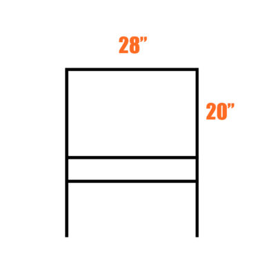 Real Estate Frame 20 x 28 with Single Rider