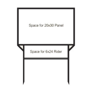 Real Estate Frame 20x30 with 1 Single Rider Slot