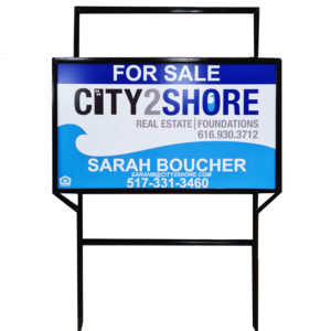 18 x 30 Real Estate Sign - 2 Riders