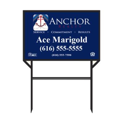 Anchor Realty - Real Estate Sign 1 Rider Slot