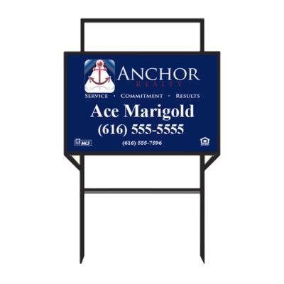 Anchor Realty - 20 x 30 Real Estate Sign 2 Rider Slots
