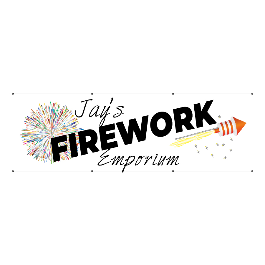 Fireworks Page Banner Product Photo - Jay's Firework Emporium Banner
