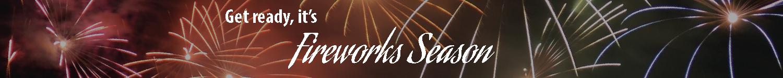 Fireworks Seasonal Banner