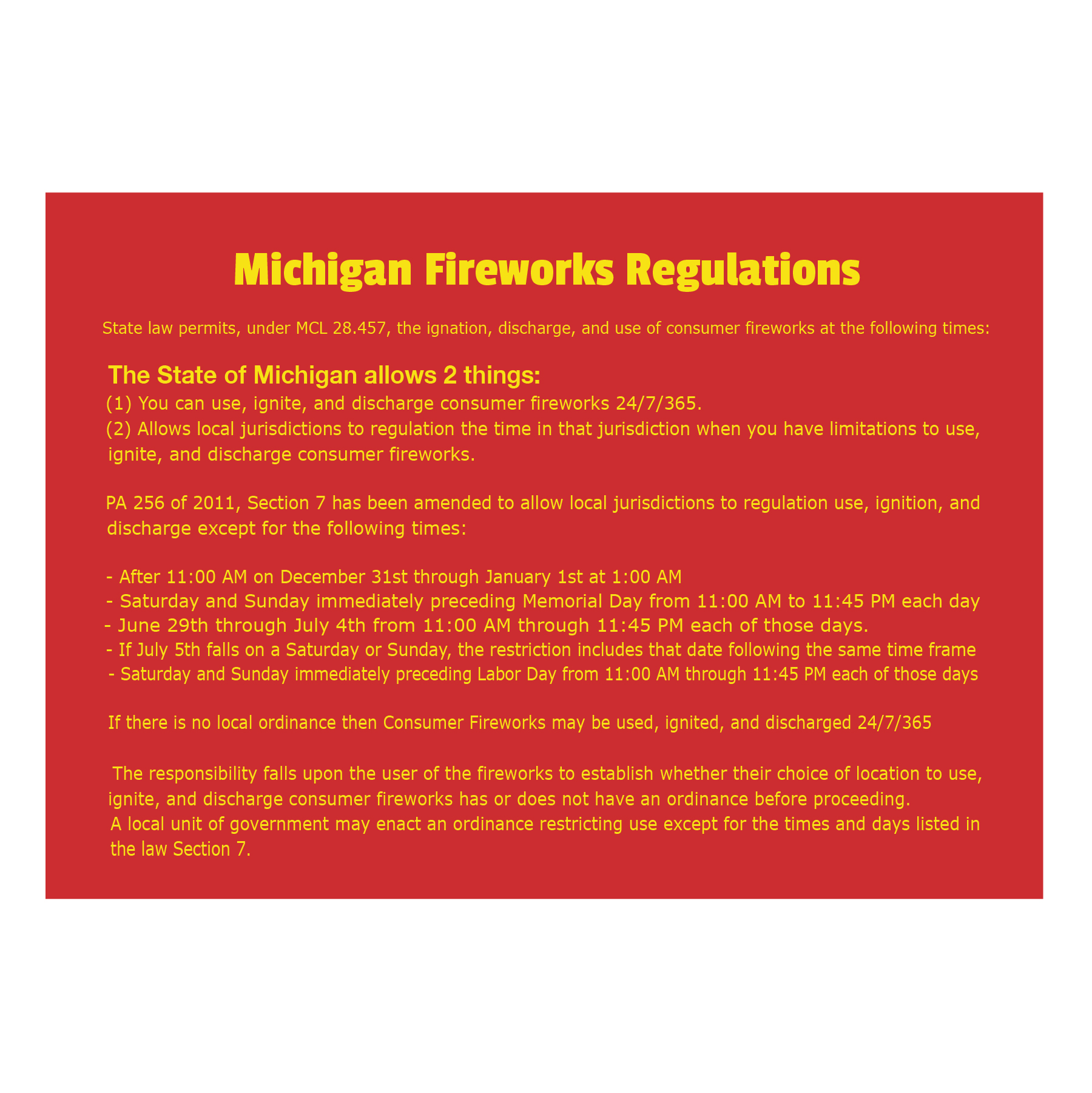 Fireworks Regulation Postcard