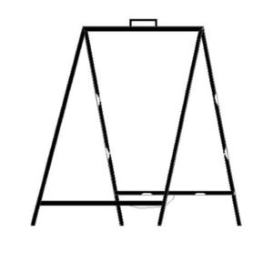 36 x 24 Steel A-Frame Frame
